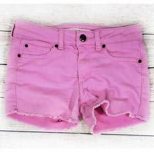 Joe's Jeans Girls Pink Denim Raw Hem Shorts